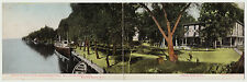 SUPER Double-Wide Postcard - Forest Home Hotel Sylvan Beach Oneida Lake NY 1905