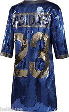 NWT~Adidas Originals JEREMY SCOTT SEQUIN FOOTBALL JERSEY Shirt DRESS~Womens sz M