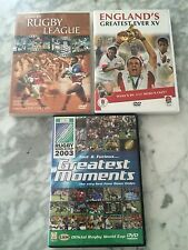 3 Rugby DVDs. Eng Greatest Ever XV, Fast & Furious 2003 World Cup, Rugby League.