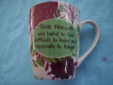 PIER 1 True Friends are hard to find Gift Mug Cup In Box Coffee Tea