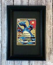 Shiny Charizard GX Custom Metal Pokemon Card in Frame