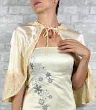 Vintage cream satin lace capelet small lace satin bridesmaid bridal accessories