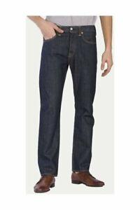 Genuine LEVIS Mens 501 ORIGINAL Regular Straight leg Blue Indigo Denim jeans