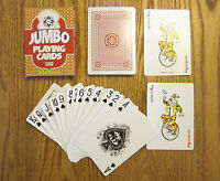 5 NEW DECKS OF JUMBO PLAYING CARDS GIANT LARGE PLASTIC COATED POKER CARD DECK