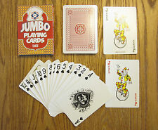 2 NEW DECKS OF JUMBO PLAYING CARDS GIANT LARGE PLASTIC COATED POKER CARD DECK