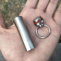 Wasserdicht Kapsel Pillendose Schlüsselanhänger Multitool Too Outdoor ddbb H6G5