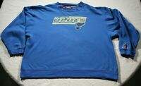 Vintage 90s St. Louis Blues Sweatshirt 2XL Coolest Game Shirt NHL Hockey