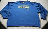 Vintage 90s St. Louis Blues Sweatshirt 2XL Coolest Game Shirt NHL Hockey