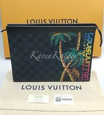 AUTH LOUIS VUITTON DAMIER COBALT JUNGLE POCHETTE 26 VOYAGE MM POUCH CLUTCH BAG