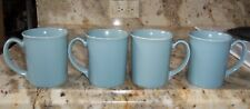 LOT OF 4 CORNING WARE COUNTRY BLUE LILY COFFEE TEA MUGS LIGHT BLUE 32 G6 & 32 I5