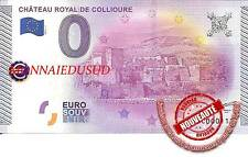 Billet Touristique 0 Euro 2015 - Chateau Royal de Collioure