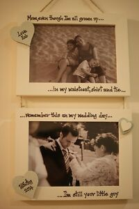 Personalised Photo Frame! Mother of the Groom or Bride Gift! Any Words!