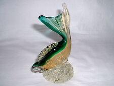 Murano Glas Fisch Sommerso mit Farbeinschmelzungen und Goldflitter