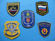 POLICE - LOT INTERNATIONAL EMBROIDERED COLORED PATCHES ! AUTH. NEW. UNIQUE..