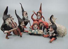 Rare Antique Austrian Bronze Set Snow White 7 Dwarves Brothers Grimm - gnomes BR