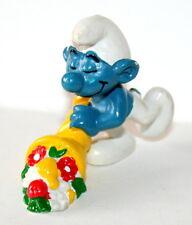 Vintage Smurf Schleich Figure 1979 Peyo Horn of Plenty PVC NEW NOS
