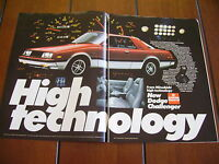 1981 DODGE CHALLENGER ***ORIGINAL 2 PAGE AD*** MITSUBISHI