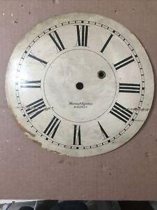 "Antique Brewster & Ingraham 11 3/4"" Gallery Clock Dial Part"