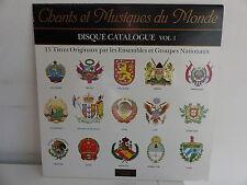 Chants et musique du monde Disque catalogue Vol 1 UNESCO  30161