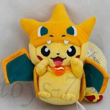 "Pokemon Pikachu Charizard Pikazard 5"" Pendant Plush Toy Nintendo Key Chain Doll"