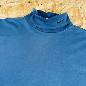 Medium Long sleeve Nike Roll Neck T Shirt With Small Tick On Collar 90s Vintage