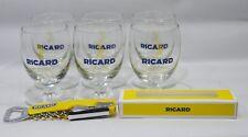 RICARD pastis anis 6 verres 1/2 soleil nouveau modèle  + 1 limonadier NEUF
