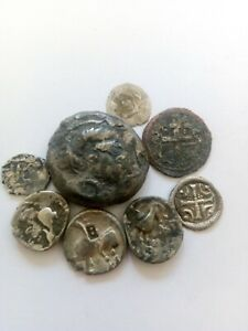 061.Lot of 8 Ancient Celtic and Hungary Silver Coins