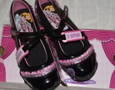SKECHERS Bella Ballerina Prima Sz 11 Youth Girls Spin Mary Jane Black/Hot Pink