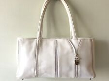 SUZY SMITH real leather ladies white underarm tote handbag
