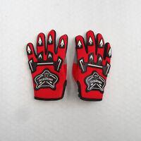 Red Kids Children Motorcycle Gloves Motorbike Gear Motorcross S-M-L Size