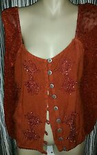 WOMENS HIPPY BOHO BNWT SUIT TOP SKIRT EMBROIDERED SIZE XXL RRP250
