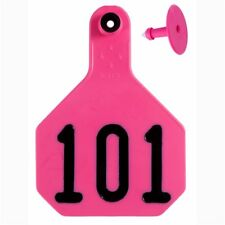 Y-Tex Large 4-Star Tags Cattle Fade Tear Resistent #101-125 Hot Pink 25ct pkg