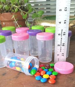 10 Plastic JARS 2oz Party Candy Pill Bottles Doc McStuffins RX  #4314  DecoJars