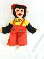 "Vintage ZIP The Monkey Chimp Howdy Doody ZIPPY Doll Plush Rushton Co. 16"""