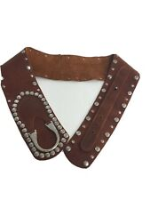 Leatherock Belt Leather Brown 5696 Silver Studded S 32 (missing one stud)