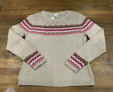 Harold's Camel Sweater Size Large New Lamb's Wool/Cotton Excellent