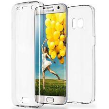 Funda doble silicona TPU Transparente para Samsung Galaxy S7 EDGE Hibrida 360°