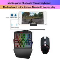 HXSJ K99 Kabellose Einhandtastatur mit Kabel Gaming Mouse Combo für Android iOS
