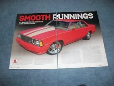 "1979 Chevy Malibu RestoMod Article ""Smooth Runnings"""