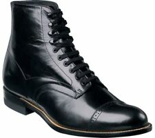 Stacy Adams Mens 00015 Madison Leather Cap Toe Ankle Dress BOOTS Black 9 Wide (e W)