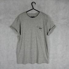 New! Stunning! Lee Cooper Short Sleeve Grey Tshirt Size M Casual Stylish Fashion