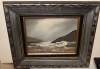 OERTLE ORIGINAL OIL ON BOARD SEASCAPE PAINTING