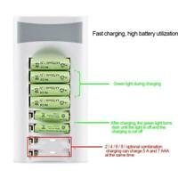 8 Slot Battery Charger For Ni-MH Ni-CD AA AAA Rechargeable Batteries I9U9