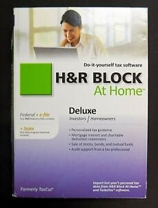 *NEW* 2010 H&R Block At Home Deluxe  Federal+e-file+State