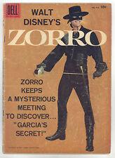 Zorro Four Color #933 VG- Photo Cover, Alex Toth, Disney