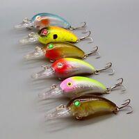 Hot 6pcs/lot Bass Life-Like Crank Baits Fishing Lures 7.8cm/10g CrankBait Tackle