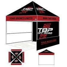 Custom Logo Printed 10x10 Pop Up Canopy Vendor Commercial Trade Show Booth Tent