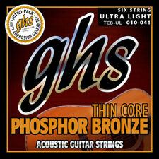 GHS TCB-UL Thin Core Phosphor Bronze Acoustic Guitar Strings gauges 10-41