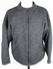 Burton Gore Windstopper Heavy Wool Cardigan Full Zip Sweater MENS SMALL Gray