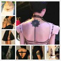Hot Black Henna Lace Temporary Tattoo Metallic Tattoo Inspired Sticker Body Art